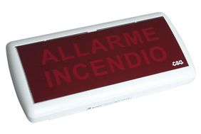 "Targhe ""Allarme incendio"" luminose Cooper Safety"